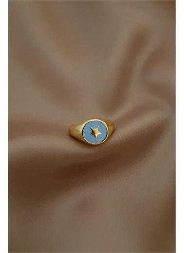 Bej takı Bijuteri Yüzük Mavi